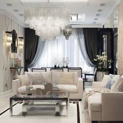 Квартира в Краснодаре - Изысканность стиля Гостиная-вариант 1:  Bedroom by СТУДИЯ   'ДА' ДАРЬИ АРХИПОВОЙ,