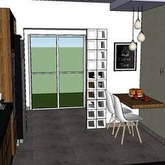Cozinha e Lavanderia - Limeira/SP: Cozinhas rústicas por Studio4Interiores