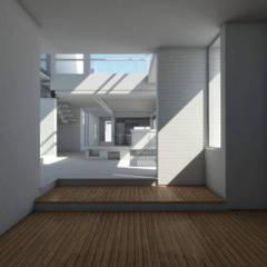 Diseño de Casa en Serralta por 1.61 Arquitectos Salones mediterráneos de 1.61 Arquitectos Mediterráneo