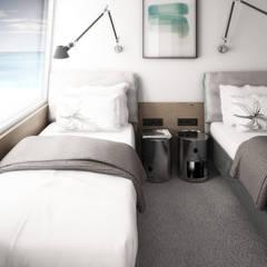sypialnia: styl , w kategorii Jachty i motorówki zaprojektowany przez oshi pracownia projektowa