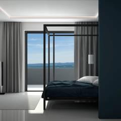 Дизайн интерьера квартиры в стиле минимализм: Спальни в . Автор – Way-Project Architecture & Design, Минимализм