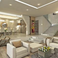 Villa Arellano: Salas / recibidores de estilo moderno por NOGARQ C.A.