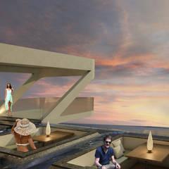 ESTES HOTEL: Piscinas de estilo  por NOGARQ C.A., Moderno