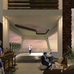 ESTES HOTEL: Pasillos y vestíbulos de estilo  por NOGARQ C.A.