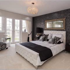 Modern Monochrome:  Bedroom by Graeme Fuller Design Ltd