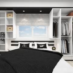 PRATIKIZ Mimarlık/ Architecture – BM, Yatak Odası:  tarz Yatak Odası