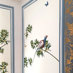 ​The renovation of Chambre Royale with Hand painted Wallpaper:  Hotels door Snijder&CO