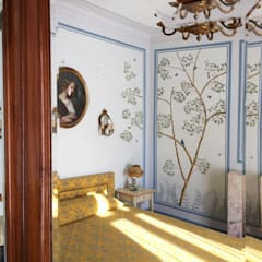 ​The renovation of Chambre Royale with Hand painted Wallpaper:  Musea door Snijder&CO