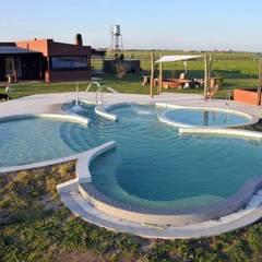 Piscina Trebol: Piletas infinitas de estilo  por Surpool - Diseño de Espacios de Agua,Moderno Hormigón