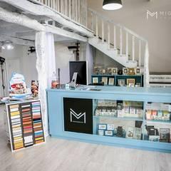 Marta Pedreira Design: eklektik tarz tarz Multimedya Odası