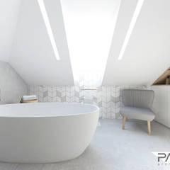 Projekt wnętrza w Lubartowie: styl , w kategorii Łazienka zaprojektowany przez PASS architekci