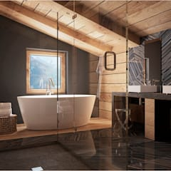 Baños de estilo rural por GM-interior