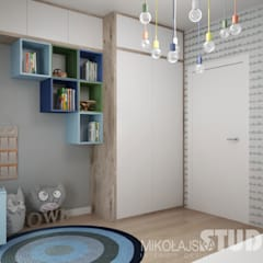 Nursery/kid's room by MIKOŁAJSKAstudio ,