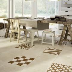 Stijlvolle ideeën met tegels voor de gehele woning :  Keuken door Sani-bouw