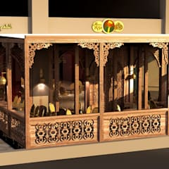 Abou El-Sid restaurant - Concord plaza mall branch:  Commercial Spaces by THE Studio