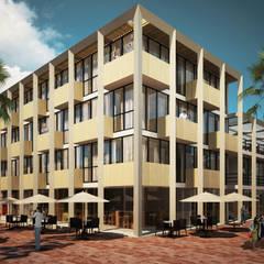ESQUINA QUINTA AVENIDA: Hoteles de estilo  por EMERGENTE | Arquitectura