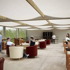 RESTAURANTE BAR CARIBE: Hoteles de estilo  por EMERGENTE | Arquitectura