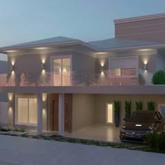 Residência MJ, Jardins Barcelona, Uberlândia - Projeto THEROOM ARQUITETURA: Casas clássicas por THEROOM ARQUITETURA E DESIGN