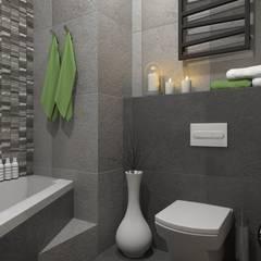 Kontrastowo i oryginalnie: styl , w kategorii Łazienka zaprojektowany przez MONOstudio