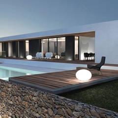 Maisons et villas modernes par les architectes d'a2-Sb: Maisons de style  par ARRIVETZ & BELLE
