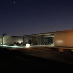 Maison contemporaine: Maisons de style  par ARRIVETZ & BELLE