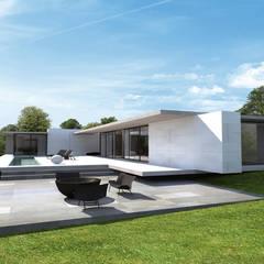 Maison moderne: Maisons de style  par ARRIVETZ & BELLE