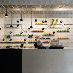 SAP bagel & juicebar:  Gastronomie door INTER/ALTER interior architects
