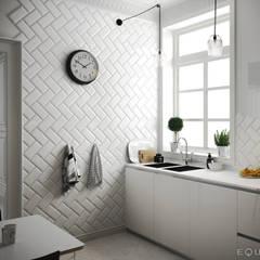 Metro White 10x20: Cocinas de estilo  de Equipe Ceramicas