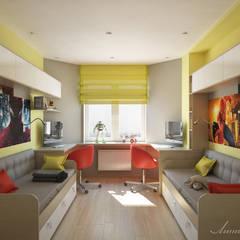 minimalistische Kinderkamer door Студия дизайна 'Линия интерьера'