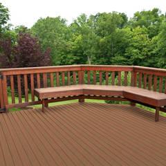 NovaDeck es la mejor alternativa a los decks tradicionales de madera, plástico-madera o PVC.: Jardines de estilo  por FORMICA Venezuela,