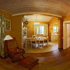 Загородный дом из клееного бруса: Столовые комнаты в . Автор – Дмитрий Кругляк