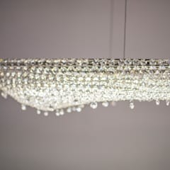 Artica crystal chandelier in a yacht:  Yachts & jets by Manooi