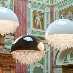 Ozero crystal chandelier composition in the Hungarian Art Gallery:  Exhibition centres by Manooi