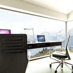 Domowy gabinet: styl , w kategorii Domowe biuro i gabinet zaprojektowany przez MONOstudio