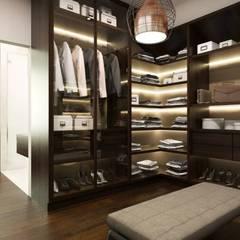 Garderoba: styl , w kategorii Garderoba zaprojektowany przez MONOstudio
