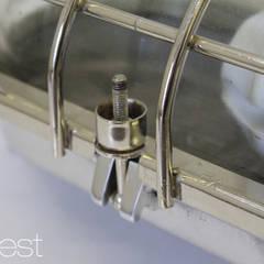 """STREHLA L ICE"" Industrie Fabrik Bunker Lampe Aluminium poliert:  Bars & Clubs von Lux-Est"