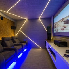 modern Media room by homify