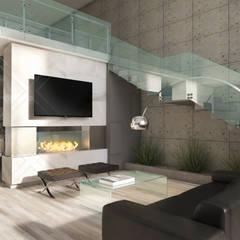 Casa JM: Salas de estilo  por CDR CONSTRUCTORA,