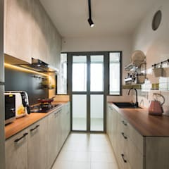Punggol Waterway Brooks BTO:  Kitchen by Designer House,Minimalist