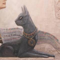 """проект """"Египет"""": Коридор и прихожая в . Автор – Художественная мастерская 'Оникс',"""