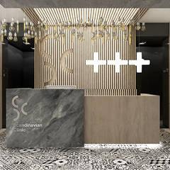 recepcja w klinice stomatologicznej: styl , w kategorii Kliniki zaprojektowany przez ARTDESIGN architektura wnętrz