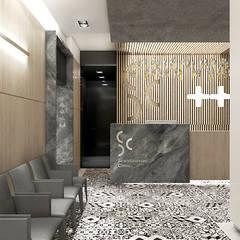 projekt recepcji w klinice stomatologicznej: styl , w kategorii Kliniki zaprojektowany przez ARTDESIGN architektura wnętrz