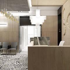 wnętrze kliniki stomatologicznej - recepcja: styl , w kategorii Kliniki zaprojektowany przez ARTDESIGN architektura wnętrz
