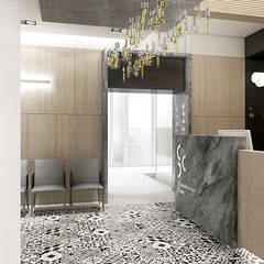 recepcja i poczekalnia: styl , w kategorii Kliniki zaprojektowany przez ARTDESIGN architektura wnętrz