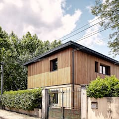 EXTENSION SURELEVATION MAISON HB33: Maisons de style de style Moderne par Cendrine Deville Jacquot, Architecte DPLG, A²B2D