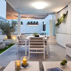 Terrace by Ideas Interiorismo Exclusivo, SLU, Mediterranean