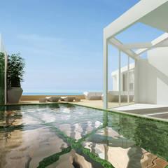 Estudo para  apartamento no Rio de Janeiro: Piscinas  por GRAU.ZERO Arquitectura
