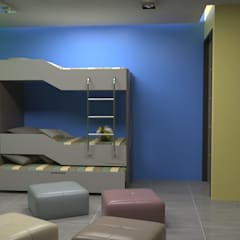 Diseño de Interiores: Cuartos infantiles de estilo  por Atahualpa 3D