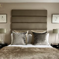 A calming and sophisticated bedroom:  Bedroom by Tailored Living Interiors