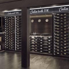 Aged Oak Custom Red Wine Cellar:  Wine cellar by Vinomagna - Bespoke Wine cellars